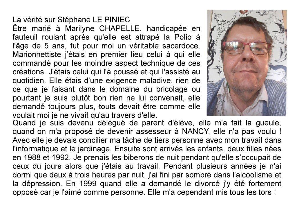 La vérité sur Stéphane LE PINIEC